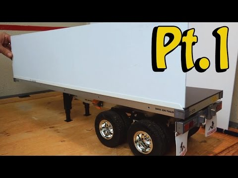 Tamiya truck flat bed trailer: How to selfmade a container for #56306 - King hauler, Globe liner - UCfQkovY6On1X9ypKUr9qzfg