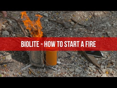 BioLite - How to Start A Fire