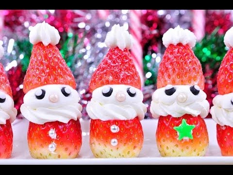 ซานตาสตอเบอรี่ | คัพเค้กซานต้า | Santa Stawberry | Christmas Desserts l FoodTravel - UCZiboBUA0U1tn31MyHoMYLQ