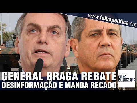 General Braga Netto rebate velha imprensa e manda recado: 'mais uma desinformação que gera...