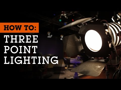 How To Set Up 3-Point Lighting for Film, Video and Photography