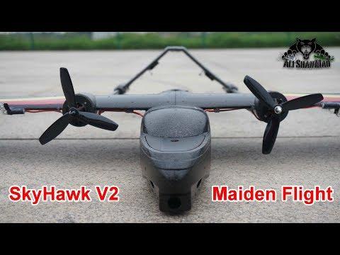 SkyHawk V2 Twin Rotor FPV Plane Maiden Flight with Xenon Strobes - UCsFctXdFnbeoKpLefdEloEQ