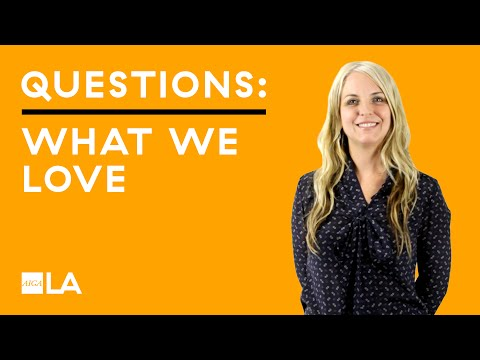 Three Questions: What We Love