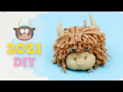 Легко! Символ года 2021 Бычок своими руками / Easy making Cute Coffe Bull / DIY NataliDoma