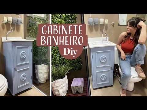 DIY Gabinete p/ Banheiros pequenos