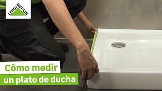 Aprende a medir tu plato de ducha para elegir la mampara (Leroy Merlin) -  YouTube 37259dd56cb3