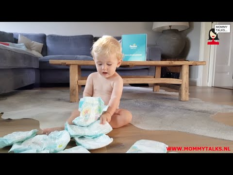 Review video Pampers baby-dry luier