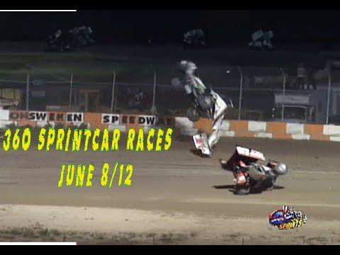 360 Sprintcar Races June 8/12 @ Ohsweken Speedway The Archive - dirt track racing video image