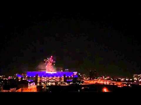 M&T Bank Stadium Fireworks Time Lapse Video