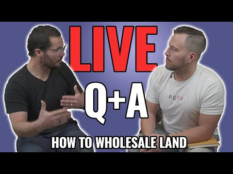 How to Wholesale Land (NOT Houses) - LIVE Q & A photo