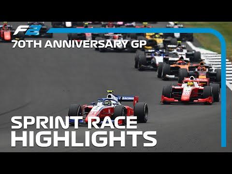F2 Sprint Race Highlights | 70th Anniversary Grand Prix 2020