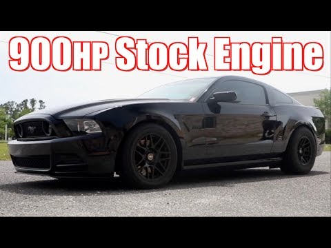 918HP Stock Motor Mustang Street Ridealong and Races Everything!