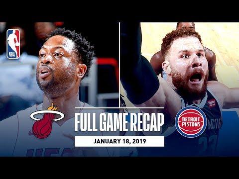 Full Game Recap: Heat vs Pistons   Dwyane Wade's Last Game In Detroit