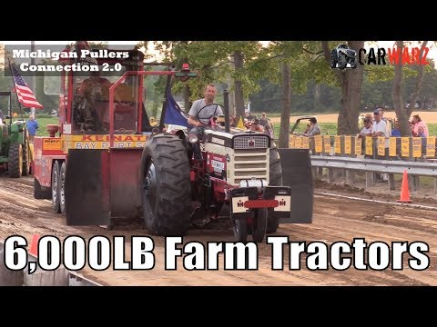 6,000LB Farm Tractor Class At TTPA Tractor Pulls In Minden City Michigan 2018