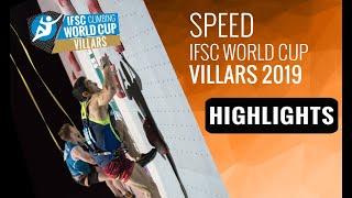 IFSC Climbing World Cup Villars 2019 - Speed - Highlights