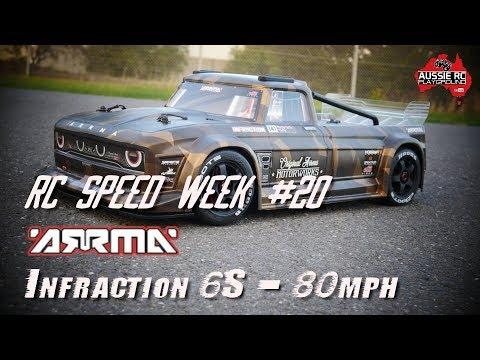 RC SPEED WEEK #20 ARRMA Infraction 6S BLX with 27T Pinion 80mph+ - UCOfR0NE5V7IHhMABstt11kA