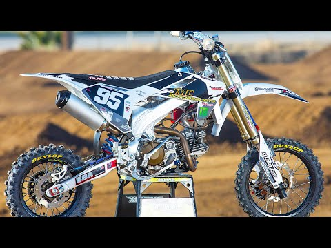 190cc Super Trick Husqvarna Pit Bike with Carson Brown - Motocross Action Magazine