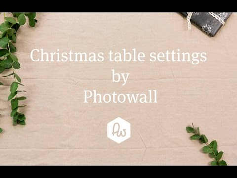 Photowall christmas table settings