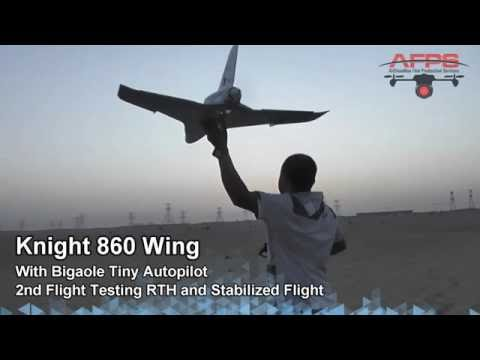 Jet Wing Knight 860 Maiden Flight with Tiny Autopilot - default
