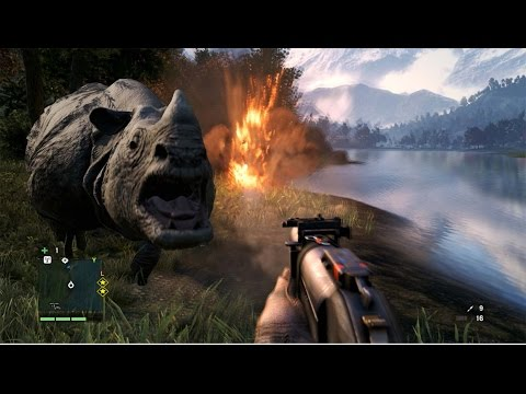 Far Cry 4 Funny Moments 2 - RHINO ATTACK - default