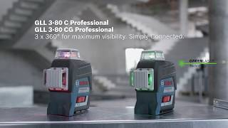 Joonlaser Bosch GLL 3-80 CG (1x2,0 Ah), L-Boxx, kinnitusrakis BM1