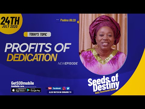 Dr Becky Paul-Enenche - SEEDS OF DESTINY - FRIDAY JULY 24, 2020