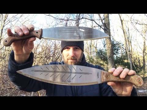 Condor Big Leaf VS. Condor Mondo: Bushcraft Machete & Knife, Designed By Matt Graham