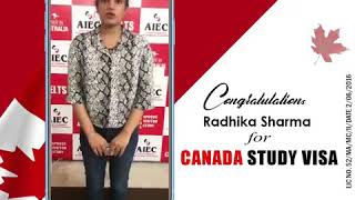 CanadaStudyVisa Approved | Ms.Radhika Sharma