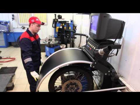 Балансировка собранного колеса мотоцикла