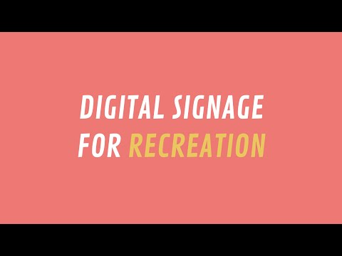 ScreenScape Digital Signage for Recreation