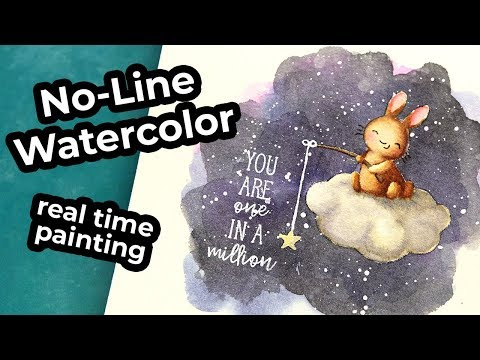 No-Line Watercoloring in Real-Time