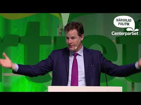 Nick Cleggs tal på Centerpartiets stämma 2017