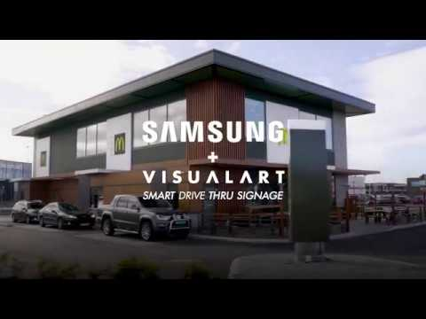 Samsung med VisualArt: Smart Drive Thru Signage