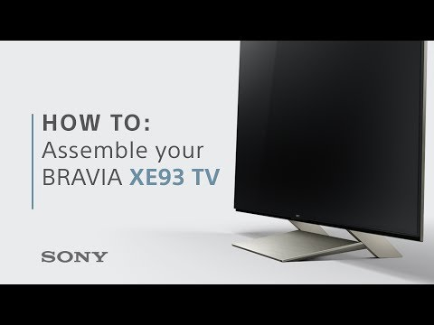 How-to guide: Assemble your BRAVIA XE93 TV from Sony