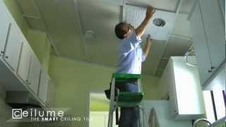 Ceilinglink Grid And Ceilume Ceiling Tile Installation Time Lapse You