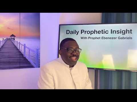 Prophetic  Insight June 4 2021