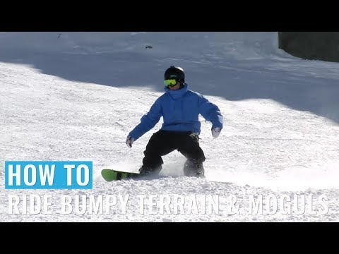 How To Ride Bumpy Terrain & Moguls On A Snowboard
