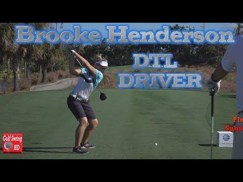 BROOKE HENDERSON 120fps DTL SLOW MOTION DRIVER GOLF SWING 1080 HD