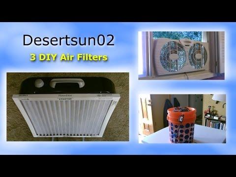 3 DIY Air Filters! (comp. vid.) - DIY Air Filtration - AC&DC powered (solar) - All Easy DIY's