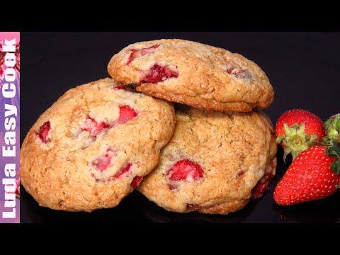 Домашнее Печенье c Клубникой | Strawberry Cookies Recipe