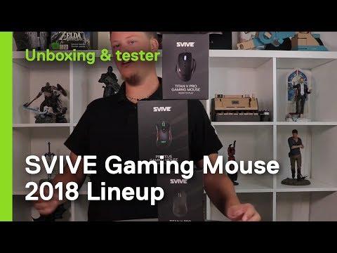 Vi ser på Svive Gaming Mus: Proteus RGB, Titan X PRO og Titan V Pro