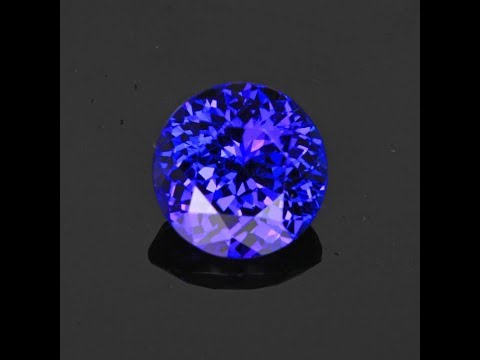 Violet Blue Round Brilliant Cut Tanzanite Gemstone 4.89 Carats