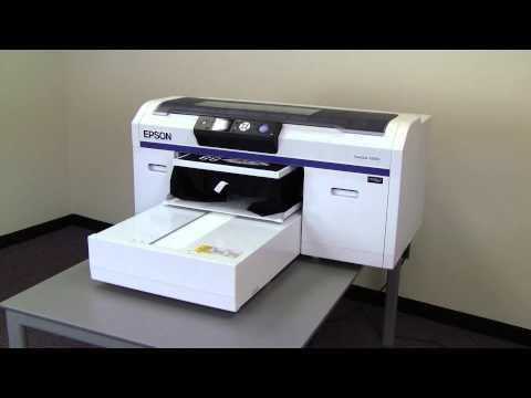 Epson F2000 Printing A Black T-Shirt