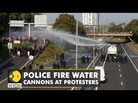 Solvenia: Water canon used on anti-jab protests | Coronavirus Pandemic