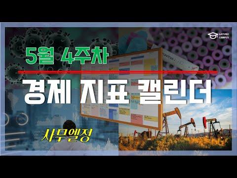 [국내외 경제지표 캘린더] 5월 4주차, 코스피 2000선과 한국 주요지표 발표