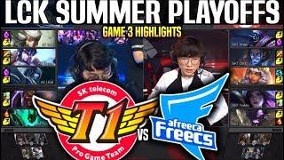 SKT vs AFS Game 3 Highlights LCK Summer Playoffs - SKT T1 vs AFREECA Game 3 Highlights LCK Summer