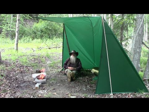 Awesome Easy Shelter Using Standard Square Tarp