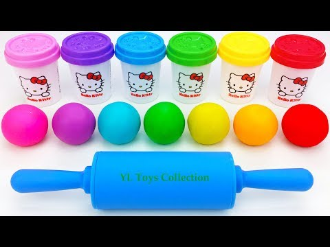 Learn Colors Hello Kitty Dough with Ice Cream Popsicles Molds and Surprise Toys Shopkins - UCkvWlsTswUtMVrEzlu-1sVg