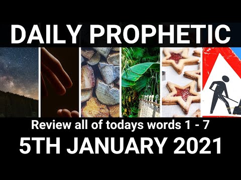 Daily Prophetic 5 January 2021 All Words