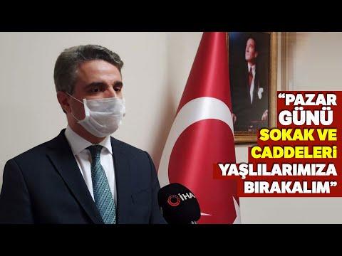 """Malatya Valisi Aydın Baruş'tan Çağrı; """"Pazar Günü Sokak ve Caddeleri Yaşlılarımıza Bırakalım"""""""